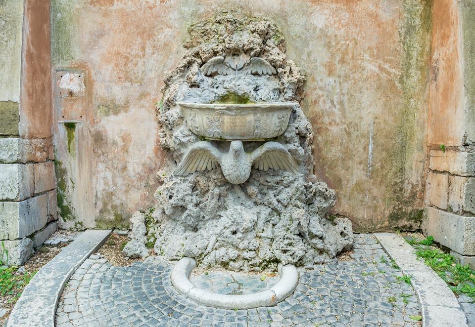 Bazilika svatého Bonifáce a Alexia - fontána