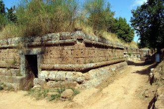 Etruské pohřebiště Banditaccia